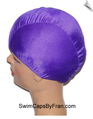 Extra Extra Large Purple Lycra Swim Cap (XXL)