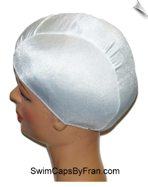 XXX Large White Lycra Swim Cap
