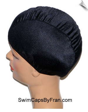 Black Toddler Lycra Swim Cap