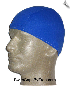 Mens Royal Blue Lycra Swim Cap
