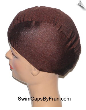 Chocolate Brown Lycra Swim Cap
