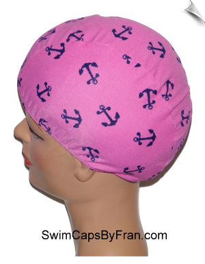 Anchors Away Toddler Lycra Swim Cap