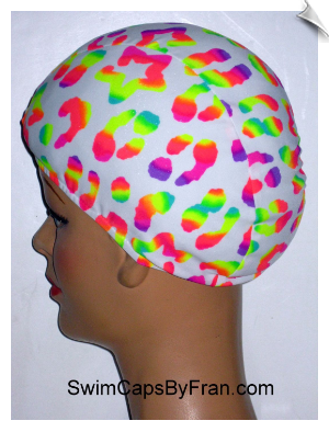 """A Little Dab Of Neon"" Toddler Lycra Swim Cap"