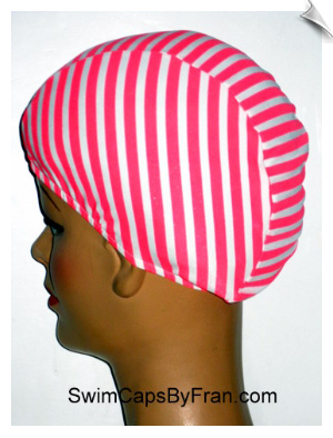 Candy Stripes Toddler Lycra Swim Cap