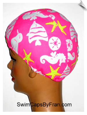Day At The Beach Lycra Swim Cap