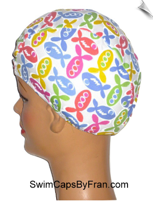 Catch That Fish Toddler Lycra Swim Cap