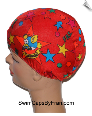 Toddler Print Lycra Swim Cap
