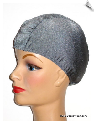 Extra Large Gray Lycra Swim Cap (XL)