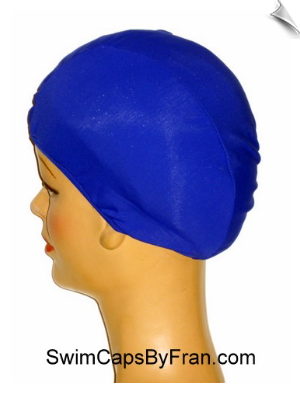 Extra Extra Large Royal Blue Lycra Swim Cap (XXL)