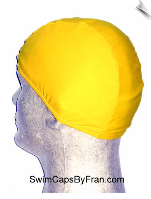 Mellow Yellow Lycra Swim Cap