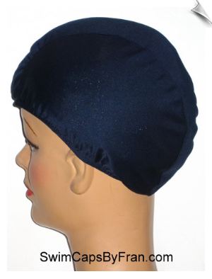 Navy Blue Lycra Swim Cap