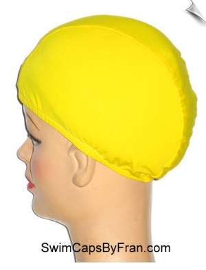 XXX Large Mellow Yellow Lycra Swim Cap