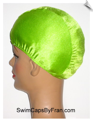 Extra Large Electric Lime Green Lycra Swim Cap (XL)