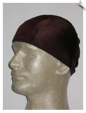 Extra Large Chocolate Brown Lycra Swim Cap (XL)