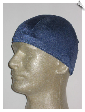 Mens Denim Look Lycra Swim Cap
