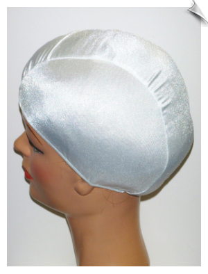 Extra Large White Lycra Swim Cap (XL)