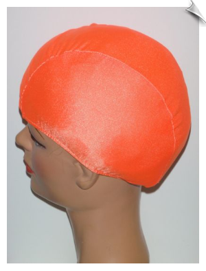 Neon Orange Lycra Swim Cap