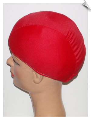 Red Devil Lycra Swim Cap