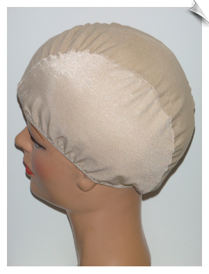 Beige Toddler Lycra Swim Cap