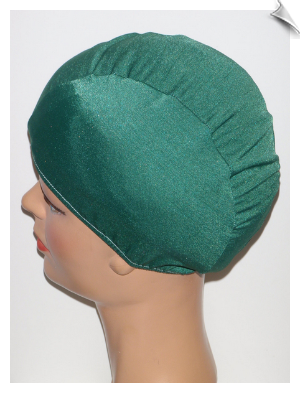 Extra Large Hunter Green Lycra Swim Cap (XL)