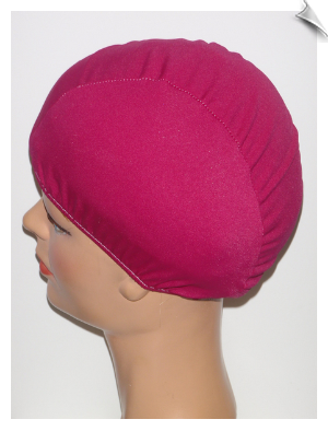 Extra Large Cranberry Lycra Swim Cap (XL)