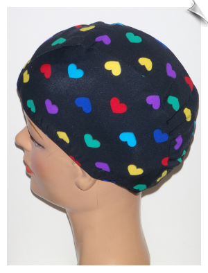 Toddler Multicolor Hearts Lycra Swim Cap