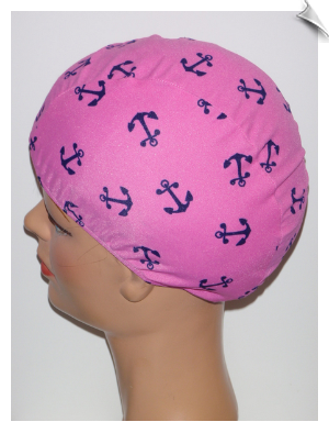 Extra Large Anchors Away Lycra Swim Cap (XL)