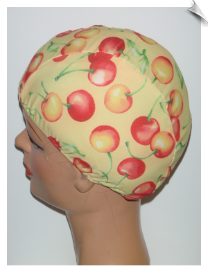 Extra Large Cherries Lycra Swim Cap (XL)
