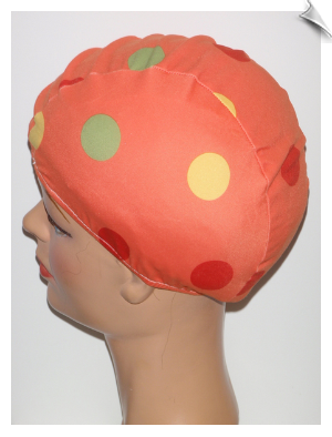 Extra Large Polka Dot Lycra Swim Cap (XL)