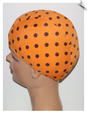XXX Large Polka Dot Lycra Swim Cap