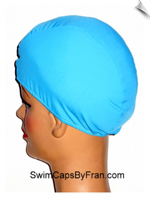Robins Egg BLue Lycra Swim Cap