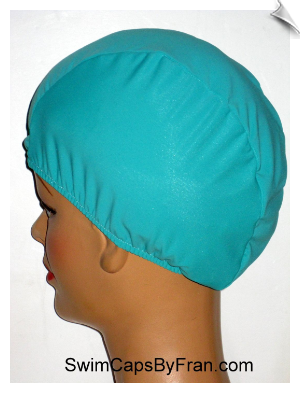 Mint Green Lycra Swim Cap