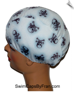 Skull & Crossbones Toddler Swim Cap