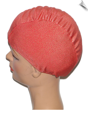 Gold Speckled Lycra Swim Cap
