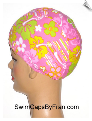 Toddler Floral Swim Cap