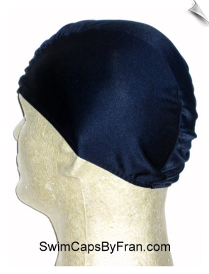 Mens Navy Blue Lycra Swim Cap