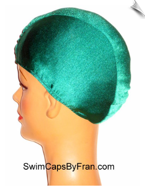 Extra Large Kelly Green Lycra Swim Cap (XL)
