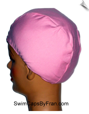 Toddler Pink Cotton Lycra Head Cover