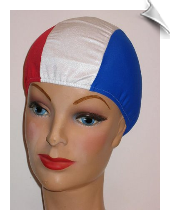 Extra Large Our Red White & Blue Lycra Swim Cap (XL)