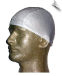 Mens White Lycra Swim Cap (SKU: 1002-M)