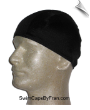 Mens Black Lycra Swim Cap (SKU: 1005-M)