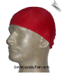 Mens Red Devil Lycra Swim Cap (SKU: 1012-M)