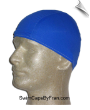 Mens Royal Blue Lycra Swim Cap (SKU: 1017-M)