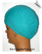 Extra Large Peacock Blue Lycra Swim Cap (XL) (SKU: 1026-XL)