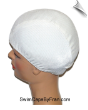 Toddler Pearl White Textured Lycra Swim Cap (SKU: 1035-T)