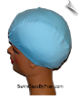 Fade Away Blue  (Matte Finish) Lycra Swim Cap