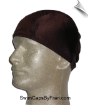 Mens Chocolate  Brown Lycra Swim Cap (SKU: 1058-M)