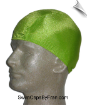 Mens Electric Lime Green Lycra Swim Cap (SKU: 1059-M)