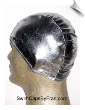 Shiny Metallic Silver Lycra Swim Cap (SKU: 1063)