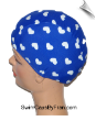 Hearts On Blue Toddler Swim Cap (SKU: 1101-T)